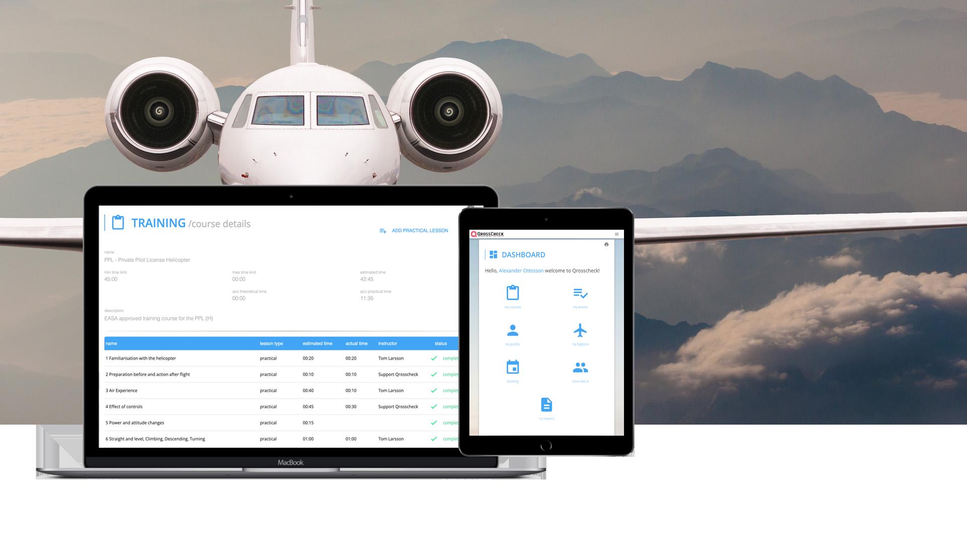 Aviation - Qrosscheck Inc  Management Software for Aviation, Railway